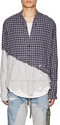 Greg Lauren Men's Plaid Flannel & Jersey Studio Shirt