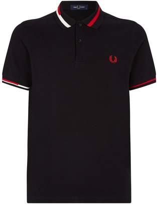 Fred Perry Abstract Collar Cotton Polo Shirt