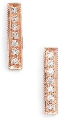 Sylvie Dana Rebecca Designs 'Sylvie Rose' Diamond Bar Stud Earrings