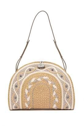Eric Javits Jiva Woven Pattern Shoulder Bag