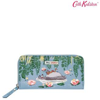 Cath Kidston Womens Blue Jungle Book Waterlily Continental Wallet - Blue
