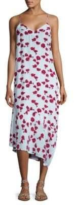 Equipment Jada Asymmetrical Floral Print Dress