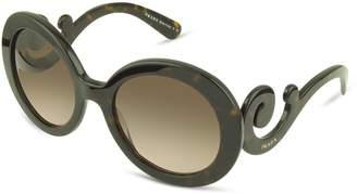 Prada Swirled Temple Large Frame Sunglasses
