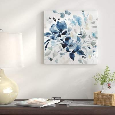 Wayfair 'Indigo Garden II' Oil Painting Print on Wrapped Canvas