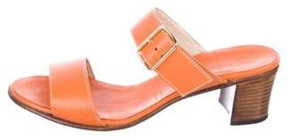 Gravati Leather Slide Sandals