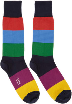 Paul Smith Multicolor Razzle Stripe Socks