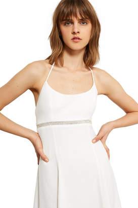 Callipygian Rhinestone Mini Dress