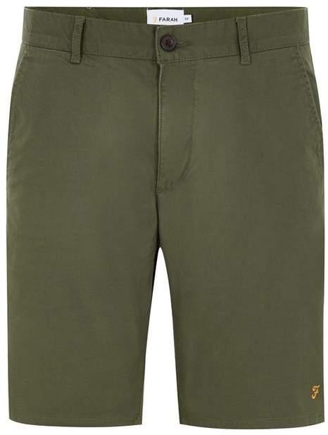 FARAH 'Hawk' Chino-Shorts aus Twill, grün