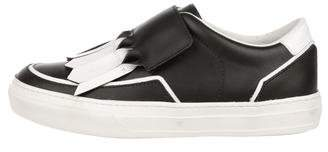Tod's Leather Round-Toe Sneakers