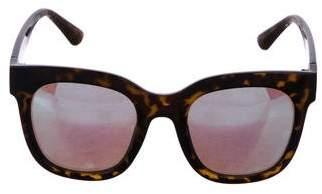 Quay Mirrored Oversize Sunglasses