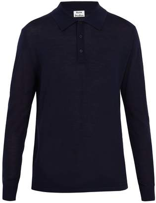 Acne Studios Nadir point-collar wool polo shirt