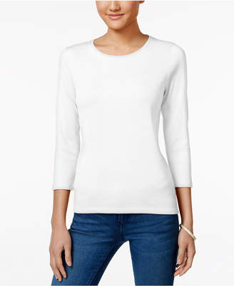 Charter Club Petite Pima Cotton Top, Created for Macy's