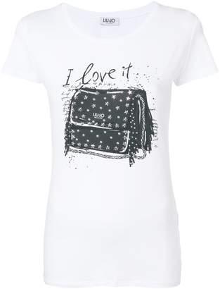 Liu Jo embellished bag print T-shirt