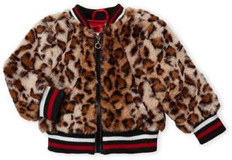 Urban Republic Toddler Girls) Jaguar Print Faux Fur Bomber Jacket