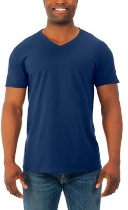53843c83 Fruit of the Loom Mens' Soft Short Sleeve Lightweight V Neck T Shirt, 4