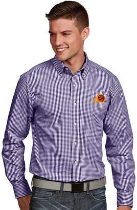 Antigua Men's Phoenix Suns Associate Plaid Button-Down Shirt