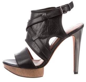 Lanvin Platform Ankle Strap Sandals