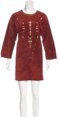 Isabel Marant Embroidered Suede Dress