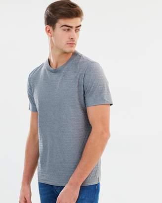 Cerruti Sharktooth Check Cotton Silk T-Shirt