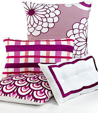 "Trina Turk CLOSEOUT! Bedding, Chevron Dots Stripe Border 12"" x 20"" Decorative Pillow"