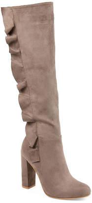 Journee Collection Womens Dress Block Heel Zip Boots