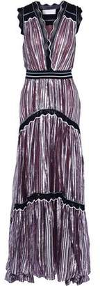 Peter Pilotto Metallic Striped Silk-Blend Chiffon Gown