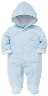 Little Me Boys' Quilted Dino Pram Footie - Baby