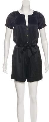 Diane von Furstenberg Silk Short Sleeve Romper