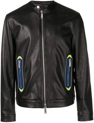 DSQUARED2 biker details leather jacket