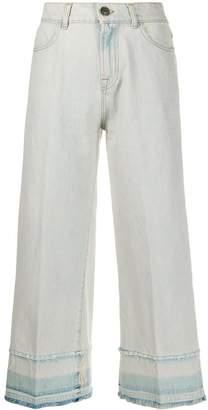 Twin-Set cropped wide leg jeans