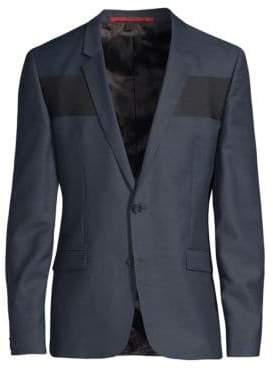 HUGO Extra Slim-Fit Ualdo Wide Stripe Jacket
