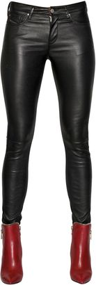 Bonded Stretch Leather Pants $983 thestylecure.com