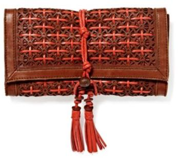 Lucky Brand Perforated Leather Clutch