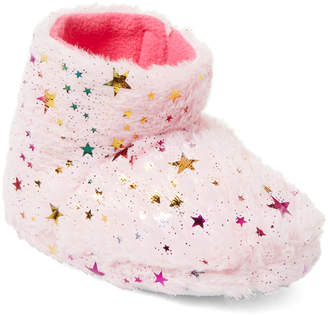Nicole Miller New York (Toddler Girls) Pink Star Faux Fur Slipper Boots