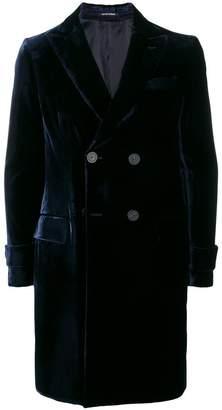 Emporio Armani double breasted velvet coat