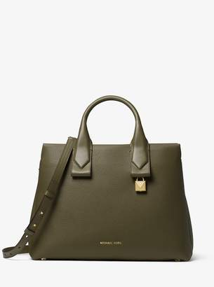 MICHAEL Michael Kors Rollins Large Pebbled Leather Satchel