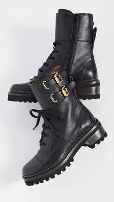 See by Chloe Mallory Combat Lug Boots