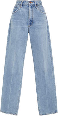 Gold Sign High-Rise Classic Straight-Leg Jeans