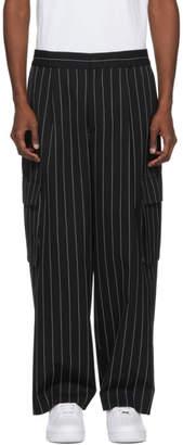Juun.J Black Pinstripe Cargo Pants
