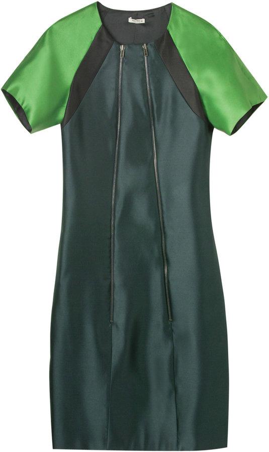 Miu Miu Silk Structured Dress