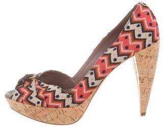 Missoni Knit Platform Pumps