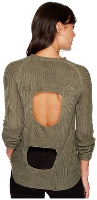 BB Dakota Percival Open Panel Back Sweater Women's Sweater