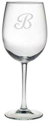Susquehanna Glass Monogram 19 oz. All Purpose Wine Glass