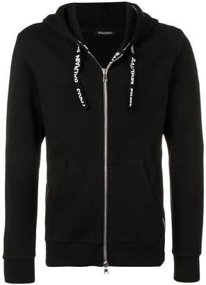 Balmain classic zipped hoodie