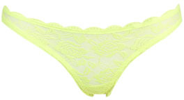 Wet Seal WetSeal Scallop Rose Thong Bright Yellow