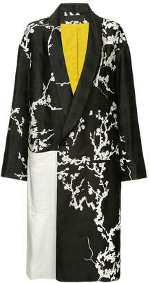 Haider Ackermann doule breasted printed coat