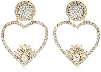 Shourouk Renata Crystal Clip-On Earrings