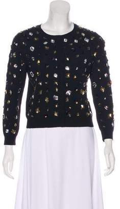 Blumarine Embellished Button-Up Cardigan