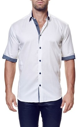 Maceoo Fresh Dot Short Sleeve Contemporary Fit Shirt (Big & Tall Available) $169 thestylecure.com