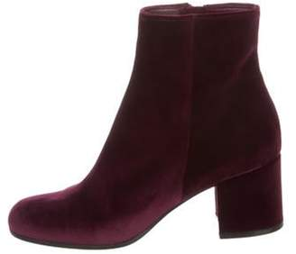 Gianvito Rossi Margaux Velvet Ankle Boots Purple Margaux Velvet Ankle Boots